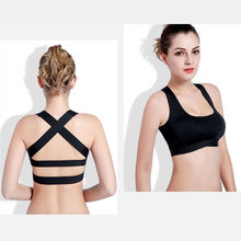 0b635d60ce42c WONBO New Women Cross Design Sports Bra Push Up Shockproof Vest Tops with  Padding for Running Gym Fitness Jogging Yoga Shirt