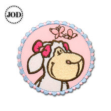 Sheep 6.5x6.5cm Embroidered Patches for Clothing Iron on Clothes Patch Children DIY Sew on Applications Applique Sewing Circle girl 6x4cm small embroidered patches for clothing iron on clothes patch children diy sew on applications applique sewing cartoon