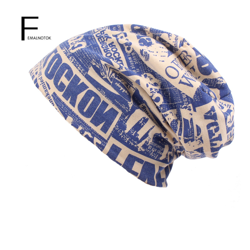 Fashion printed Skullies high quality autumn and winter printed beanie hats for men brand designer hats skullies