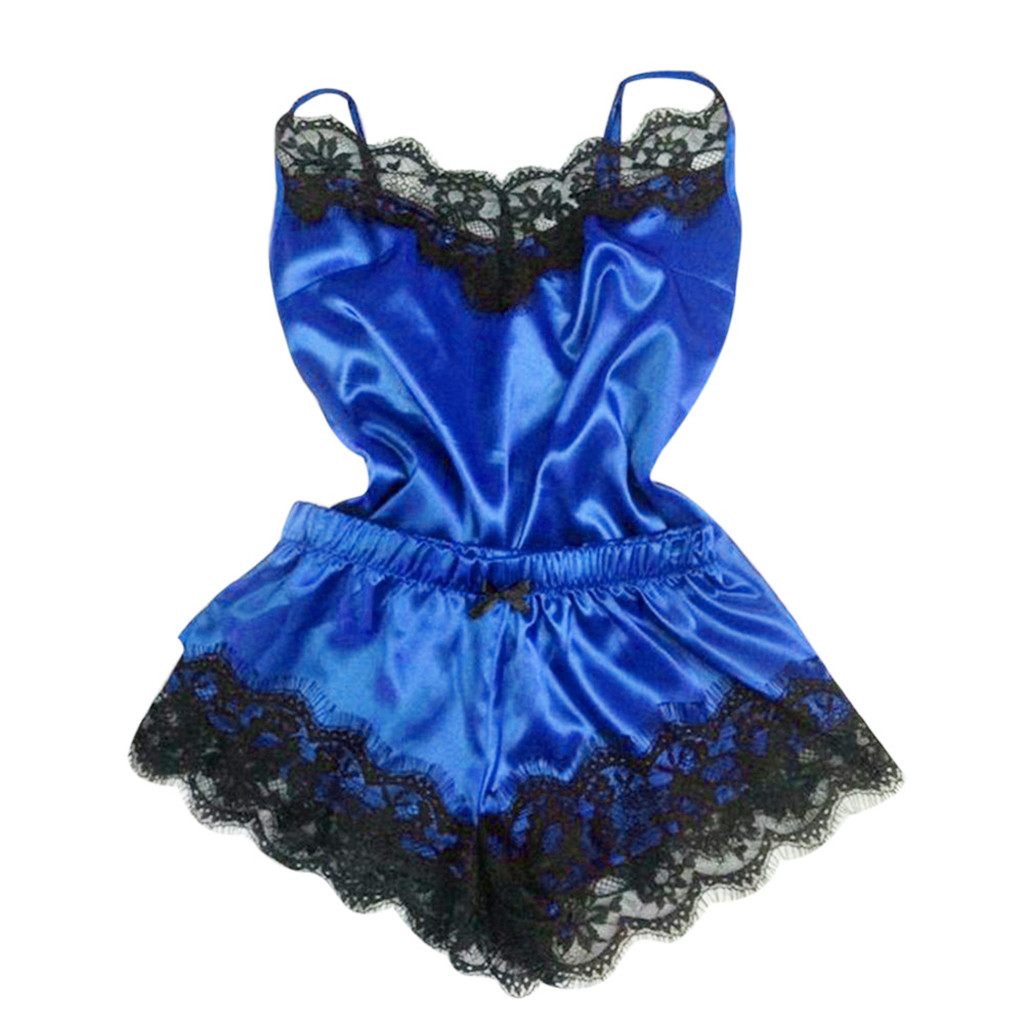 2PC Lingerie Women Babydoll Nightdress Nightgown Sleepwear Underwear Set Free Ship #Z5