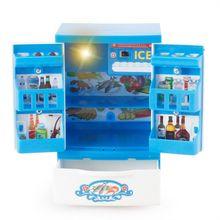 Mini chico nuriture para niños, juguetes de cocina en miniatura, juguetes educativos de desarrollo, juego de simulación, regalo, electrodomésticos, refrigerador