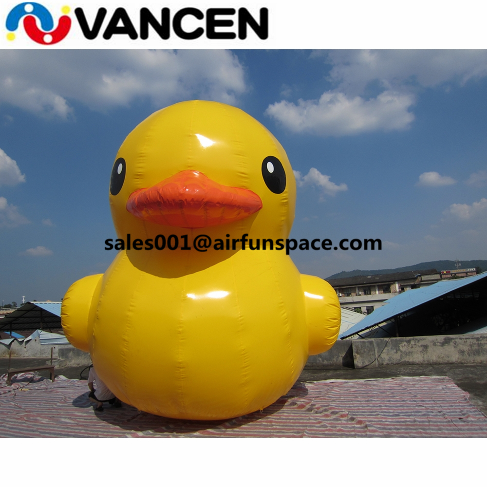 4m high advertising inflatable duck model on water big yellow ducks PVC good quality inflatable yellow duck for sale