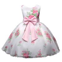 New Spring Princess Dresses For Girls Pink Ball Gowns Flower Wedding Flooral Dress Cute Baby Ropa