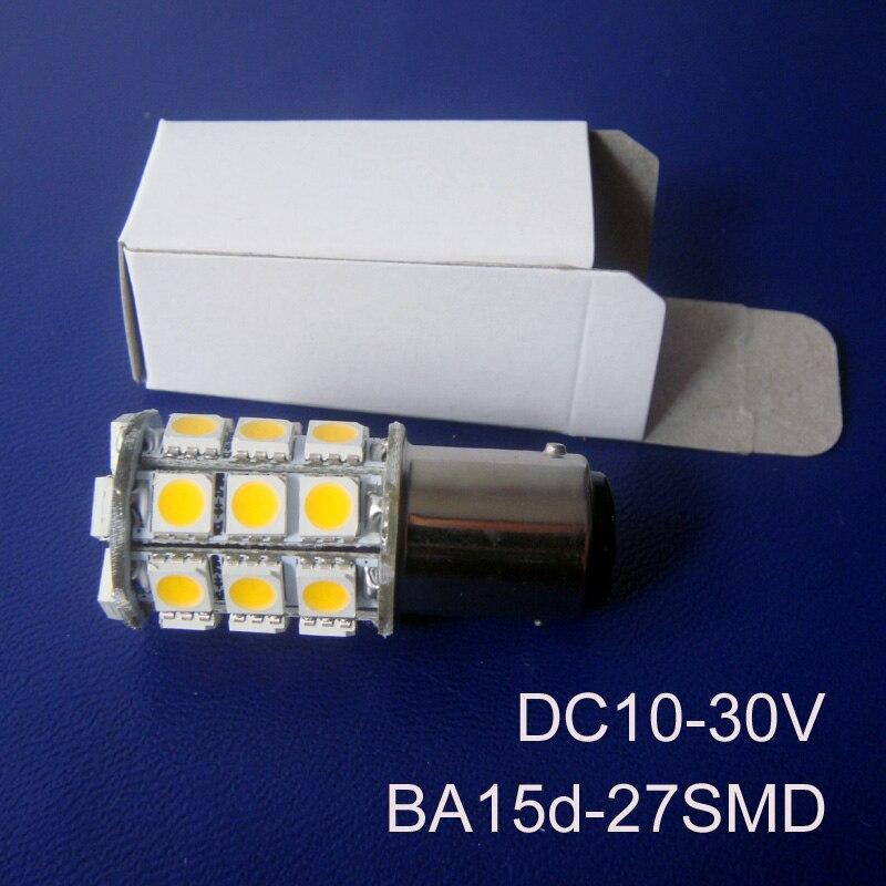 High quality 12/24VAC/DC 5W BA15D led Warning Signal lights,1142 24V led yacht ship boat lamp bulb lights free shipping 4pcs/lot