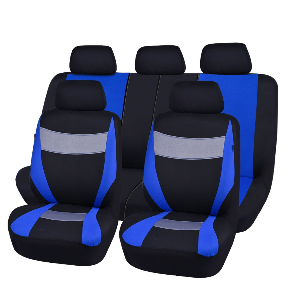 цена на Car-pass Car Seat Covers Gray Blue Red Colors Mesh Fabric 2 Universal Front Seat Covers for ford focus 2 mazda 6 renault