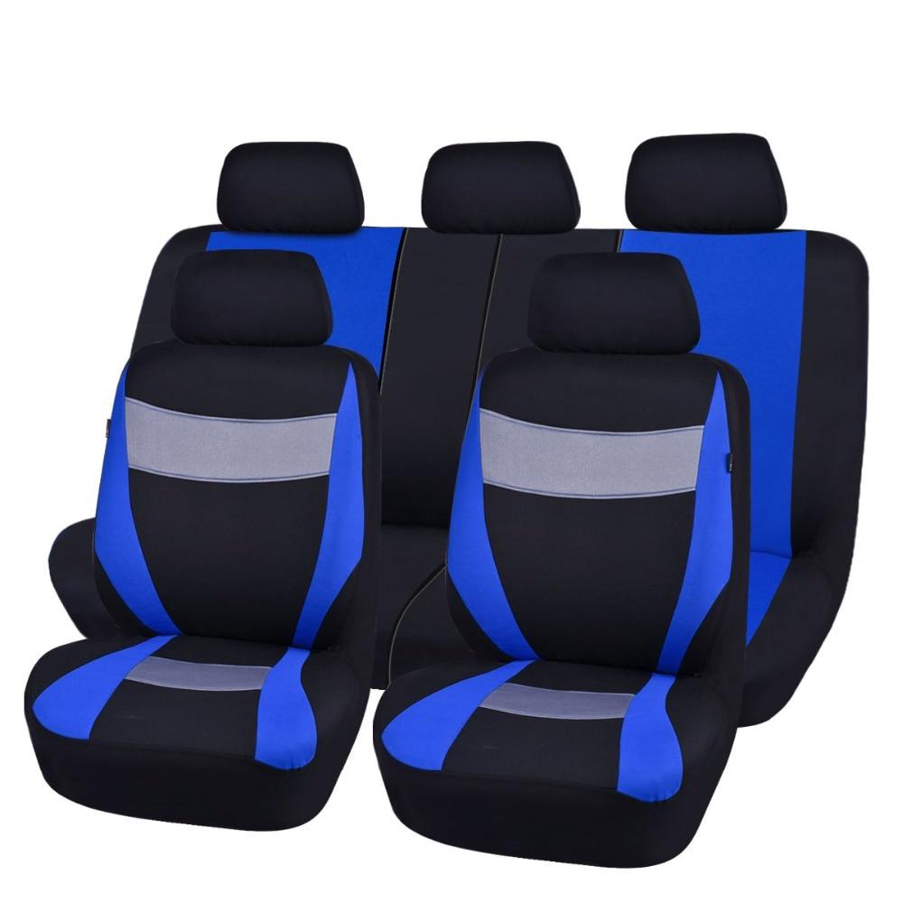 Car-pass Fundas de asiento de automóvil Gris Azul Rojo Colores Tela - Accesorios de interior de coche - foto 1