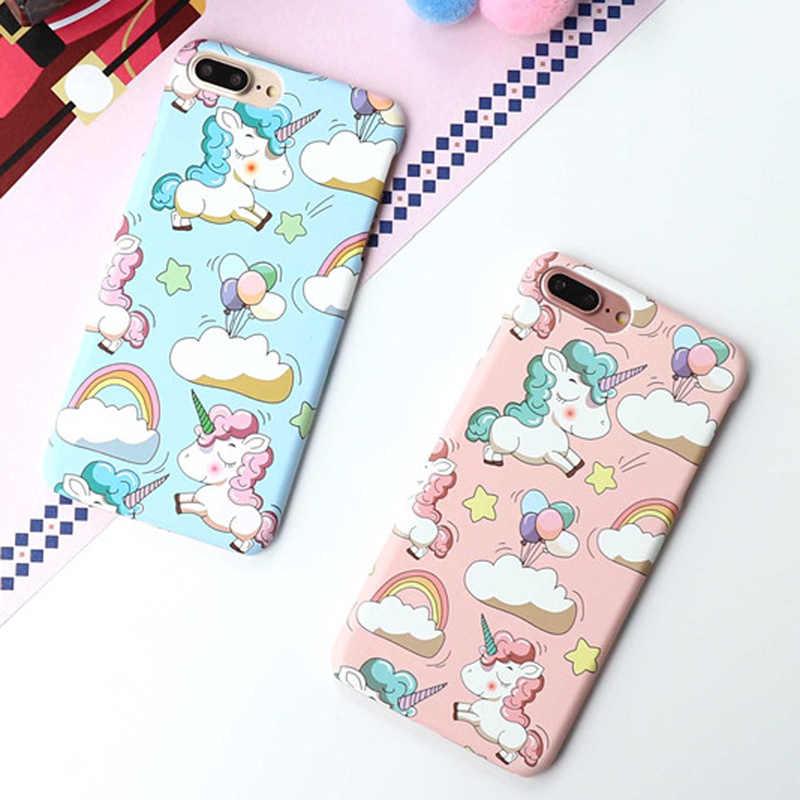 Отсутствие милый рисунок единорога Радуга пони телефонные чехлы для iphone 7 6 6 S 8 Plus X XS Max XR милые яркие цветные Чехлы жесткий чехол