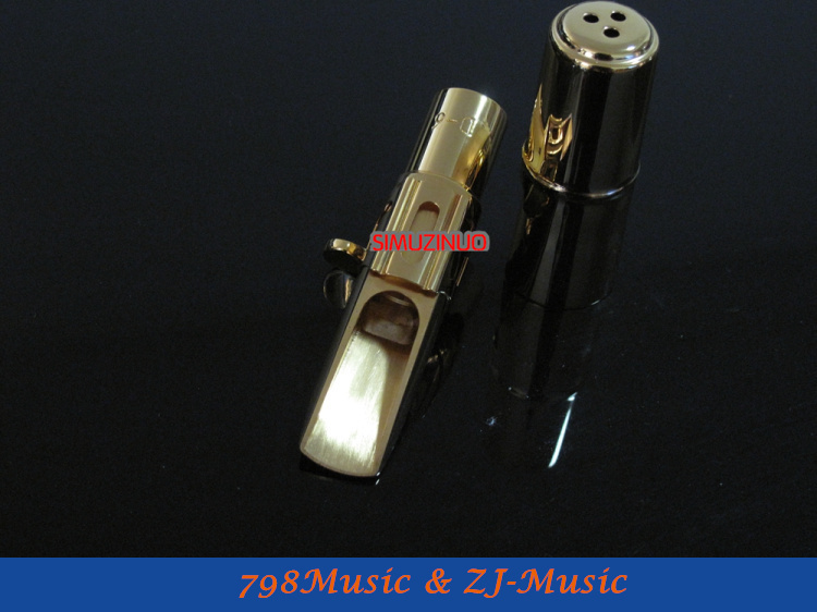 D-6 Model-Professional Metal Alto Saxophone Mouthpiece Gold Plated