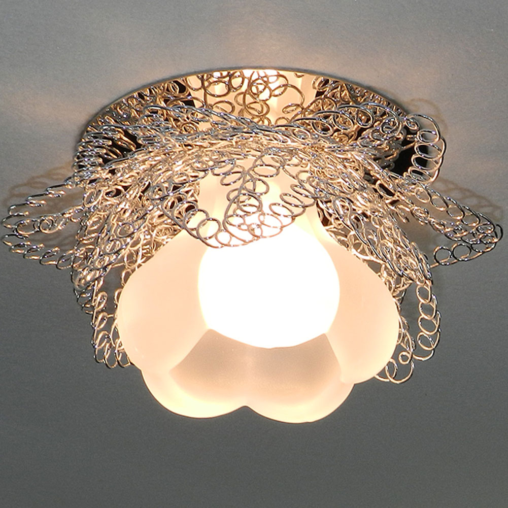 Aliexpress Moderne Wohnzimmer Decor Beleuchtung Helle LED Deckenleuchten Lampe Flur Licht Kristall Lampenschirm 3 Watt Niedrigen Energie Led Abajur 1