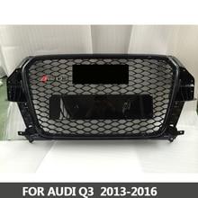 Решетка RS3-Styling Q3 ABS черный лакированный спереди Мёд сетки решетка для Audi Q3 RS3 седан/купе/кабриолет 2013 -2016
