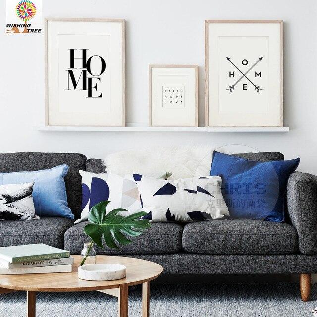 Decoración decoración letras cuero casa pintura arte Cuadros ...