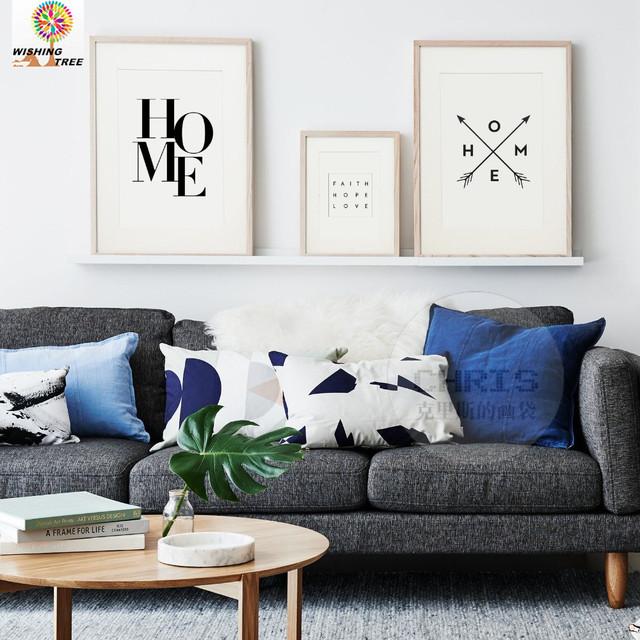 Home Decor Decoration Letters HOME Leather Painting Art Decorative Wall  Pictures For Living Room Print In
