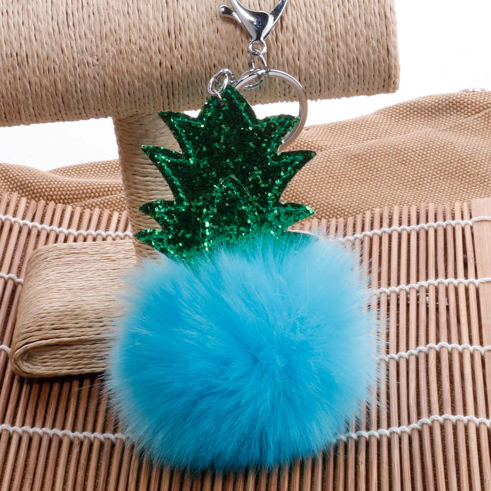 Abacaxi Forma Chaveiro Bola de Cabelo Bola de Cabelo Da Árvore de natal Pingente de Versão Coreana Do Dos Desenhos Animados Pingente Carro Pendurado Ornamentos
