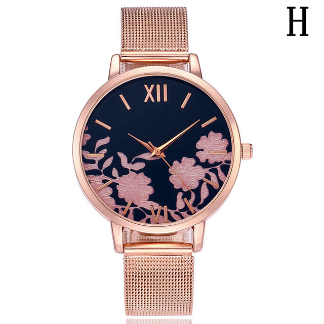 Women S Watches Aliexpress Hot Ing Mesh Band Rose Gold Quartz Watch Color Printing Hour Las