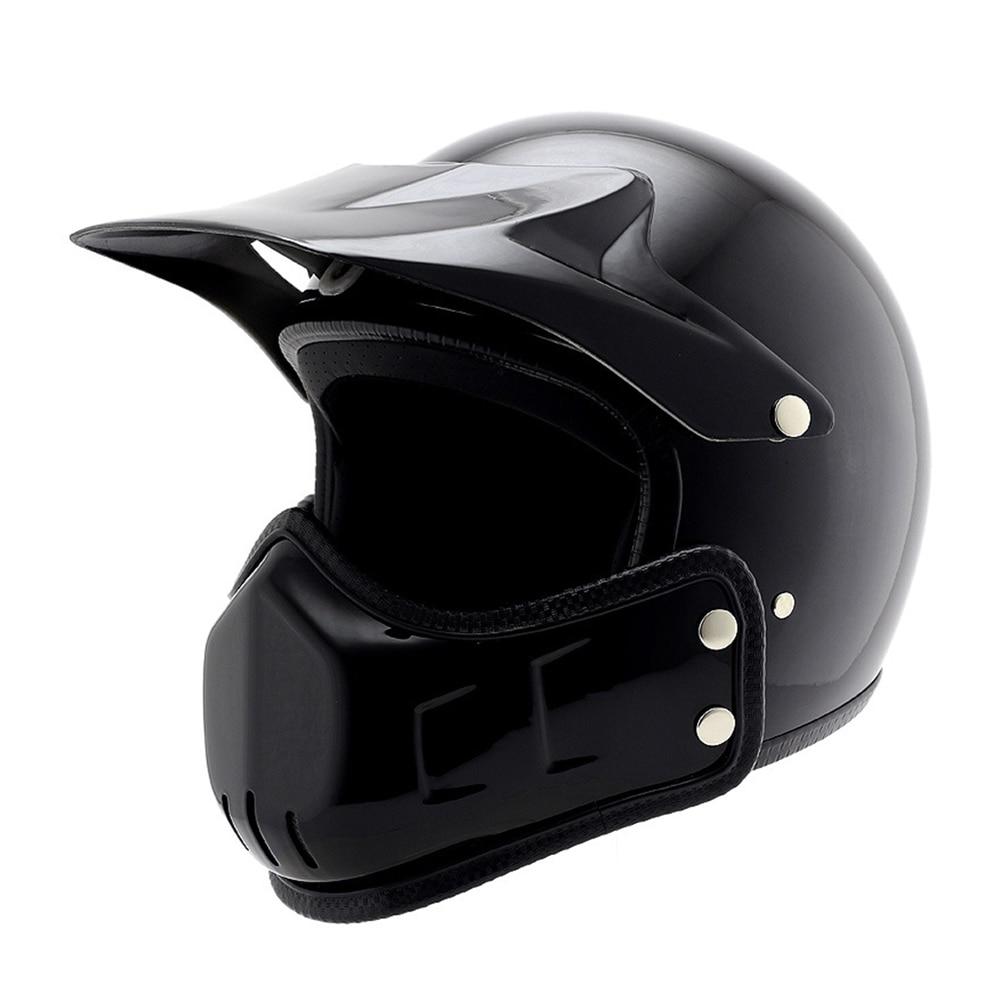 BYE Retro Vintage Motorcycle Helmet Men Full Face Helmet Moto Riding Scooter Chopper Cruiser Biker Motocross
