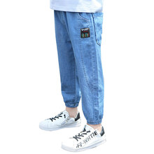 Autumn Spring Boys Jeans 7/8 for Kids Clothes Cotton Casual Children Denim Trousers Teenager Jeans for Boys Clothes 5-13 Year цена