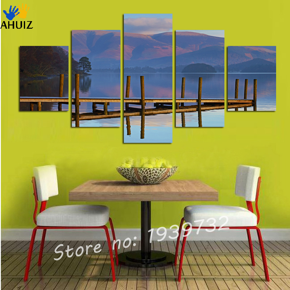 ⓪5 Panel Wall Art Canvas Seascape Painting Cuadros Decoracion Wall ...