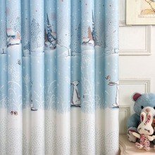 Modern Cartoon Blackout Curtains for Living Room Children Curtains for Bedroom Tulle Window Treatments curtain kitchen 1 PC