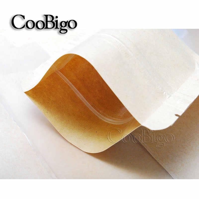 1 sztuk ciepła Seal trzy-dimensiona zawór typu Ziplock Kraft opakowanie papierowe torby okno cukierki herbatniki zamek błyskawiczny Doypack pokrowiec