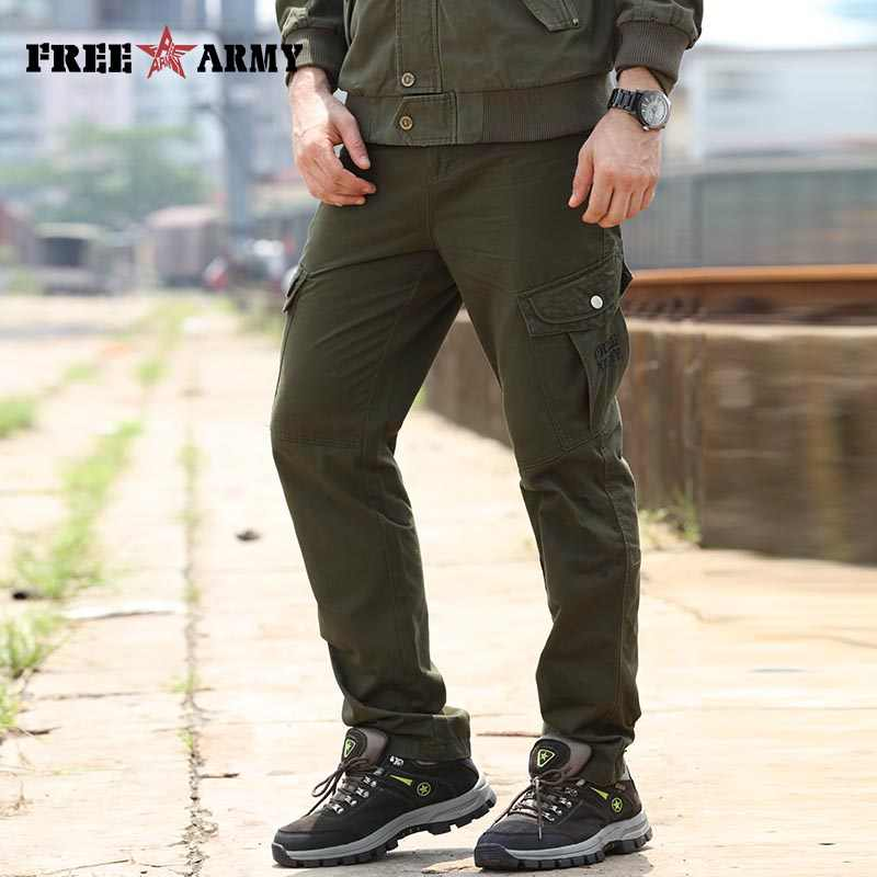 c67aa1c9 29-40 Size Mens Pants Cargo Casual Pockets Pants Army Green Sweatpants  Military Full Length
