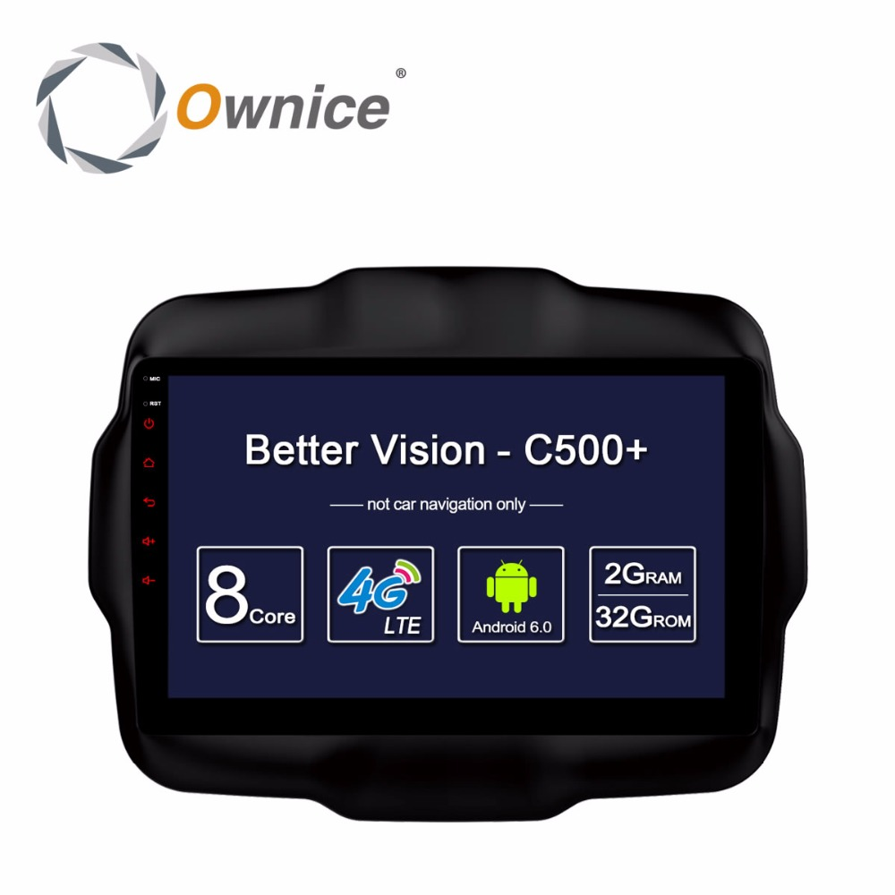 Ownice For JEEP Renegade 2016 Android DVD Head-Unite Radio Video Player Vehicle GPS Navigation Stereo Audio Smart Computer PC