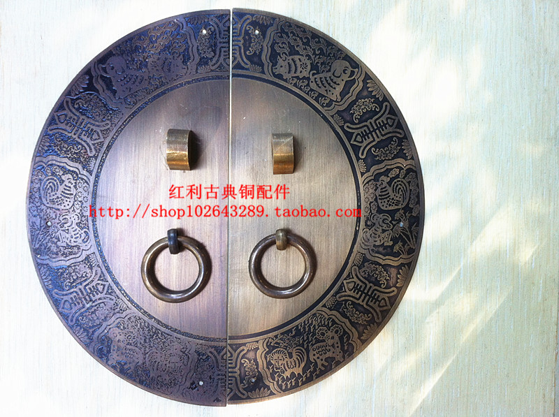 The bonus of classical Chinese antique copper copper fittings accessories copper copper door handle /18CM furniture of Ming and [bonus] antique copper copper fittings of classical chinese furniture copper ring handle drawer door handle