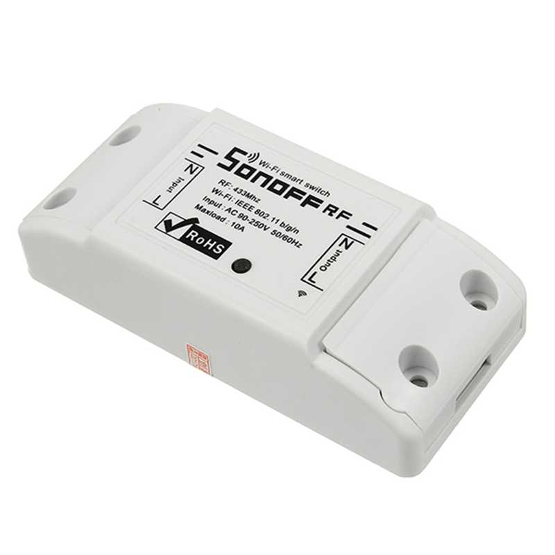 SONOFF RF 7A 1500 W AC90-250V DIY bezprzewodowy przełącznik Wi-Fi moduł gniazda dla inteligentnego domu pilot zdalnego sterowania APP lub 433 MHZ odbiornik kontroli