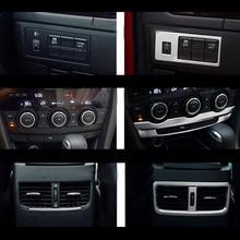 ABS для Mazda 6 Atenza приборной панели консоли отделка гарнир ободок литья AC кондиционер VENT крышка автомобиля средства укладки волос шт.