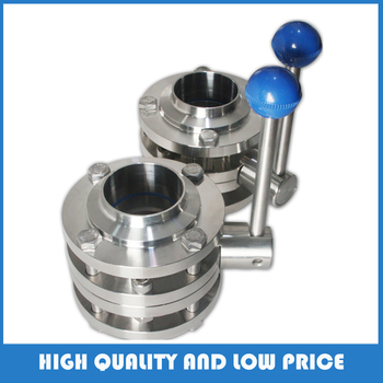 Sanitary 316L DN25 three-piece flange butterfly valve / welded butterfly valve / butterfly valve фото
