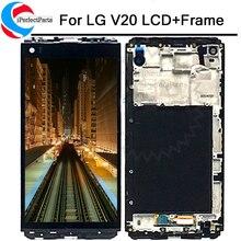 Test 5.7 IPS LG V20 dokunmatik LCD ekran ekran VS995 VS996 LS997 H910 H910 H918 H990 H990n Sayısallaştırıcı Değiştirme