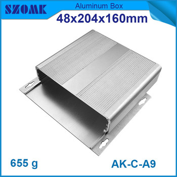 4 pcs/lot 48(H)x204(W)x160(L) mm aluminum electronic enclosure which is dustproof , and wall hanging and can be costomed