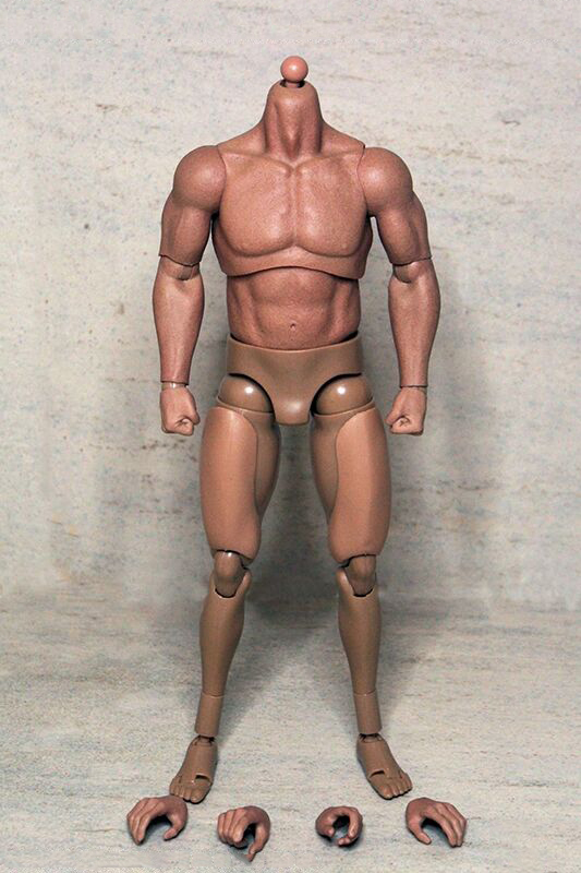 1/6 Scale Muscular Body Male Realtype Massive Body Figures for Arnold Bain   Wolverine Action Figure Accessories