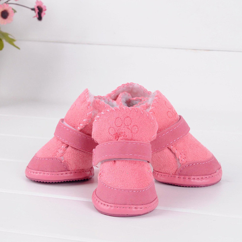 Pequeño perro gato zapatos para mascotas Chihuahua cachorro invierno cálido botas zapatos S-XXL 2 Color H1