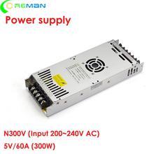 실내 옥외 led 전시 화면 전력 공급, diy led 표시 널을위한 g enegry 5v 60a 5v 300 w n300v5 전력 공급