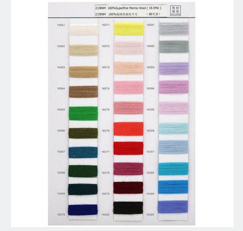 100% hilo de Merino para tejer ropa hilo 28 s/2 blanco gris negro colores respetuosos con el medio ambiente saludable 15 rollos pequeño al por mayor - 5
