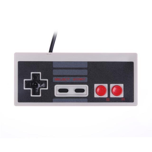 أذرع التحكم في ألعاب الفيديو السلكية Joypad الألعاب تحكم مصغرة الكلاسيكية التوصيل والتشغيل غمبد المقود للعبة نينتندو NES الكلاسيكية
