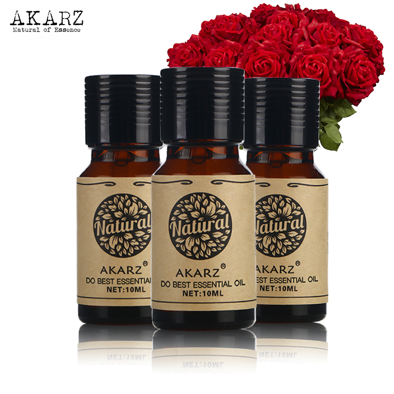 Musk Sandalwood Patchouli Essential Oil Sets AKARZ Famous Brand For Aromatherapy Massage Spa Bath Skin Face Care 10ml*3