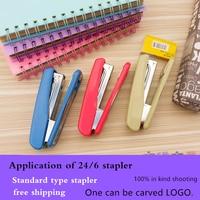 1pcs Office Stapler School Supplies Company LOGO Customized Standard Staples Office School Stationery