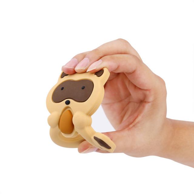 Cartoon Raccoon Silicone Baby Teether