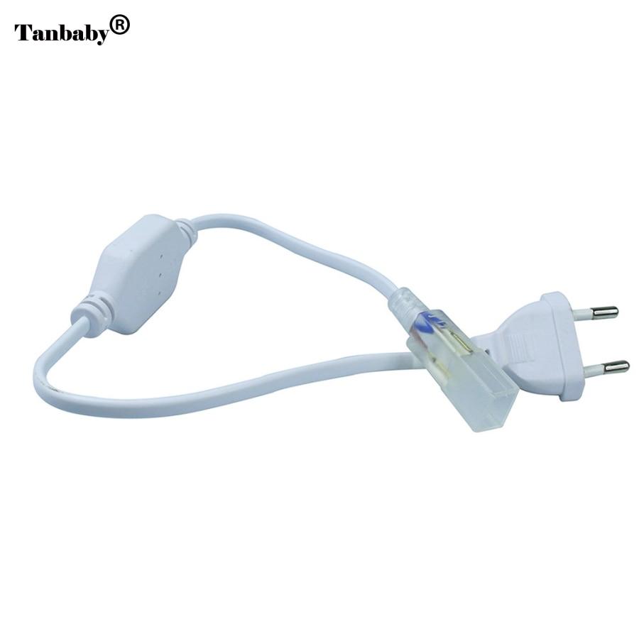 EU Plug Wide Connector for High Voltage 220v 3528 5050 3014 LED Strip Lights Accessory High VoltageEU Plug Wide Connector for High Voltage 220v 3528 5050 3014 LED Strip Lights Accessory High Voltage