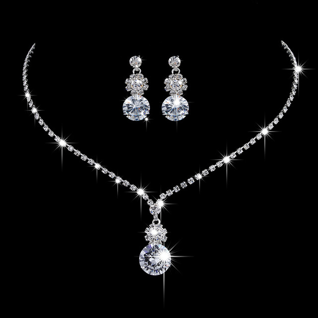 889ea0a28 Sun flower Inlaid Austria Crystal wedding Necklace Earring Two pieces set  Made with Swarovski Crystal Glittering Bridal jewelry