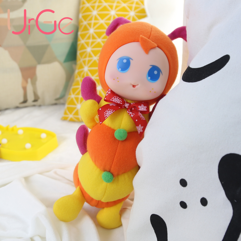 40cm Lovely Hight Kvalitet tecknad mjuk silikon ansikte fyllda dockor återfödda leksaker för barn flickor julklapp UrGe