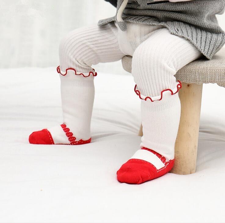 New spring children girls socks thin tube cotton lace dance kids socks 1-4 year sock