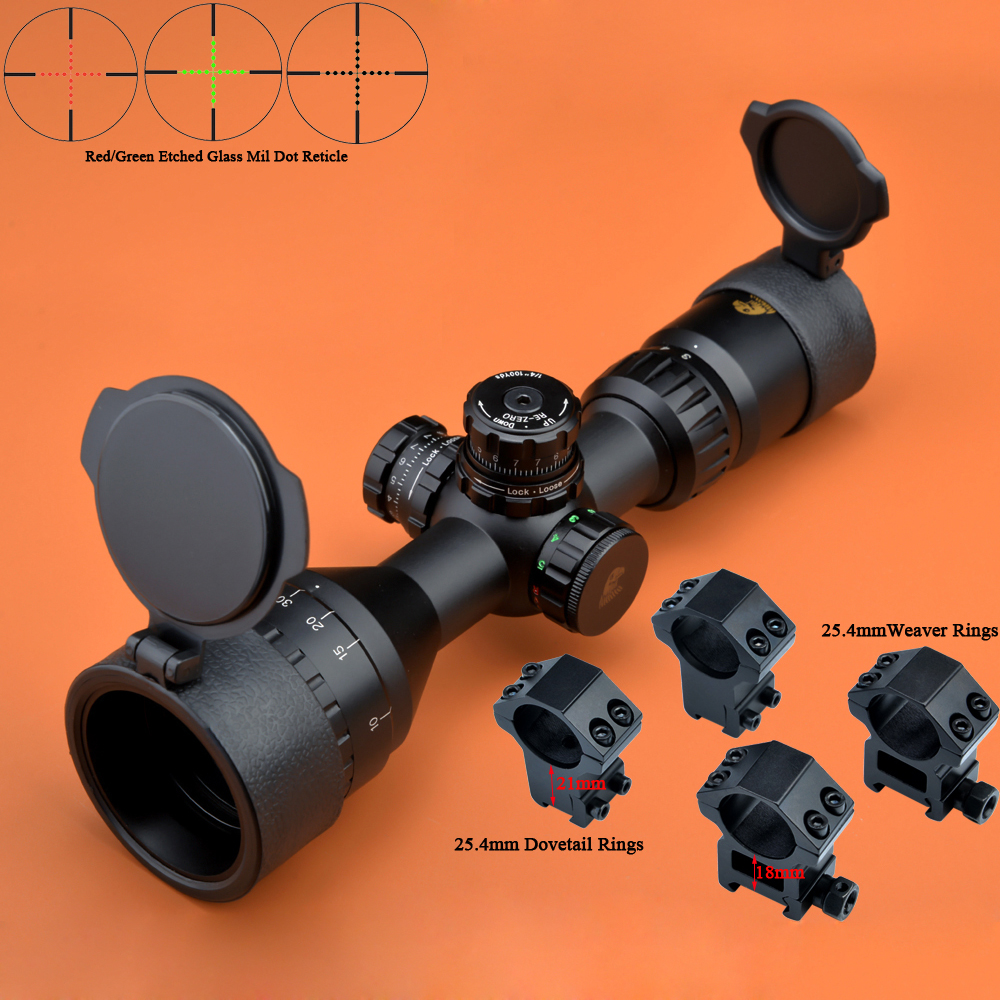 Eagle Eye Riflescope 3-9x42 AO R/G Compact Tactical Scope Glass Mil Dot Rifle Scope visionking opitcs 3 9x42 rifle scope mil dot tactical hunting long eye relief military sight 30mm for ar15 m16 m4 riflescopes