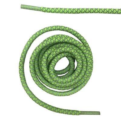 """Круглая веревка 3м Светоотражающие шнурки для ботинок бегуна видимые безопасные шнурки 14 цветов 4"""" /120 см - Цвет: neon green"""