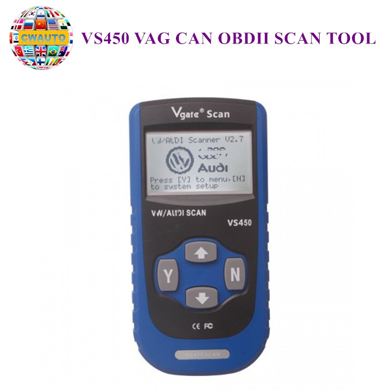VS450 <font><b>VAG</b></font> CAN OBDII SCAN TOOL image