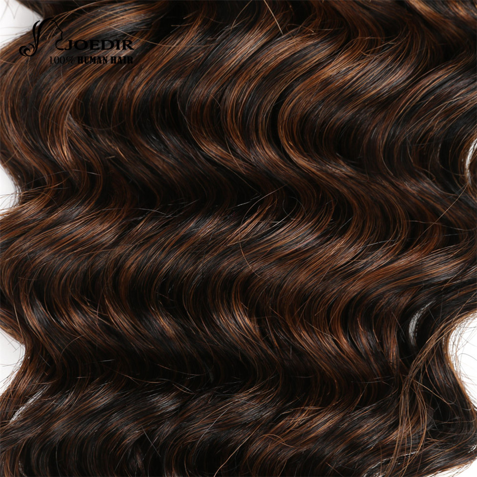 Joedir Hair Pre Colored Brazilian Remy Human Weave Nature Deep Wave F1b 30 Color P4 27 Bundles Deal In Weaves From Extensions Wigs On