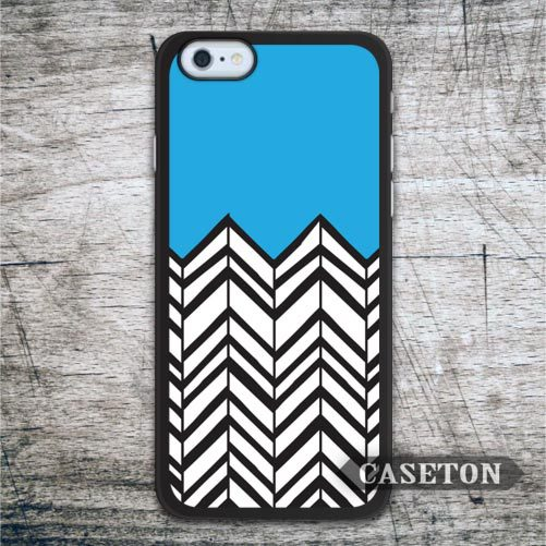 Blue Black Chevron Case For iPhone 7 6 6s Plus 5 5s SE 5c and For iPod 5 High Quality Lovely Ultra Cover Worldwide Drop Shipping