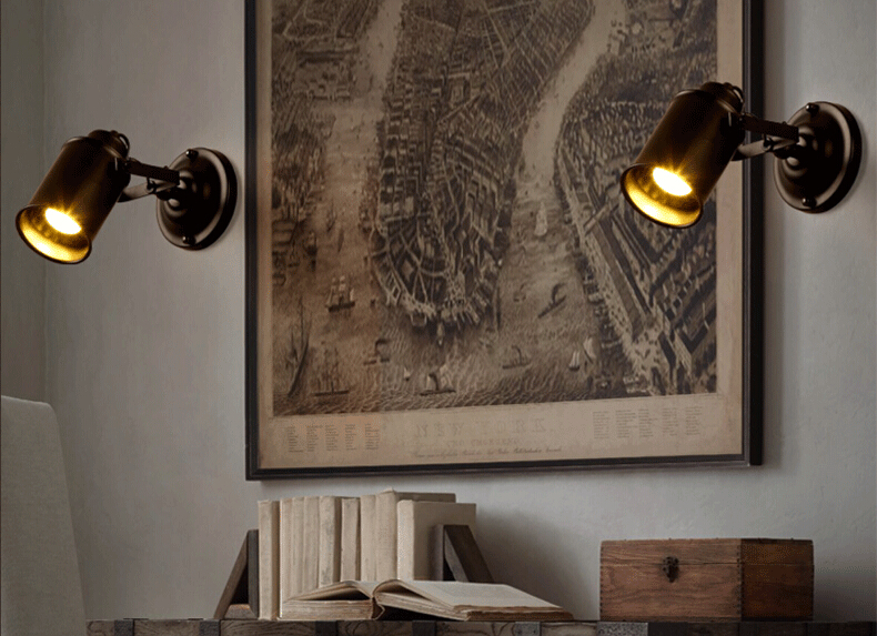 Retro iron loft industrial vintage led wall lightscreative child retro iron loft industrial vintage led wall lightscreative child wall lamps angle can be adjustedled wall sconces in led indoor wall lamps from lights aloadofball Image collections