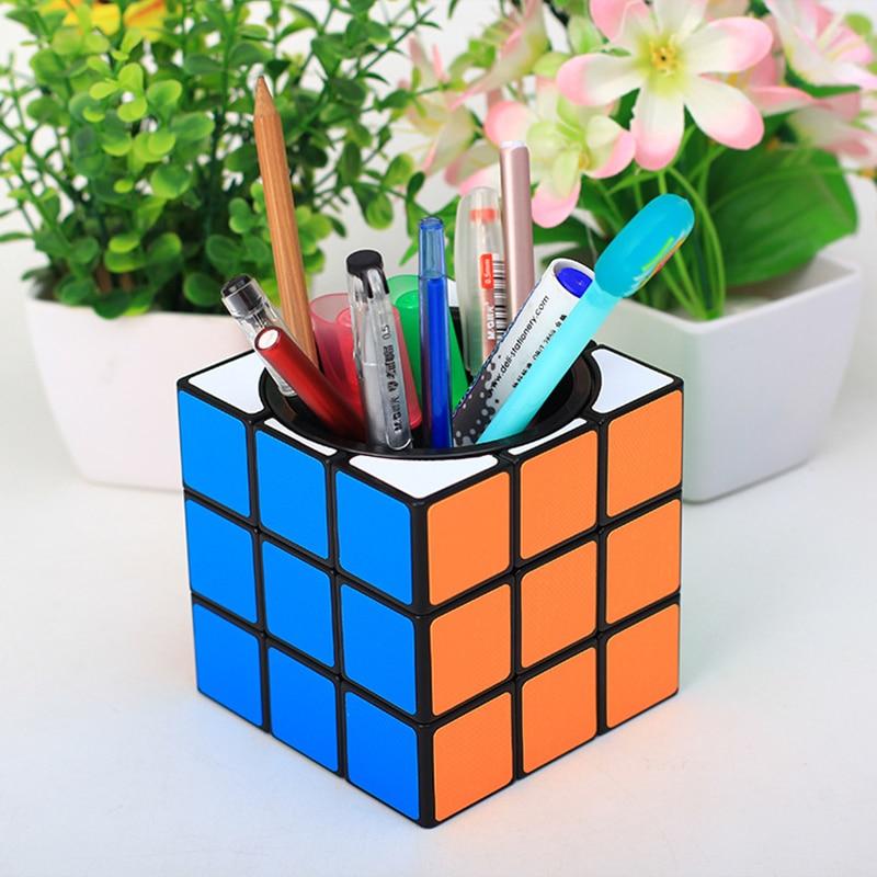 9.5CM Pen Holder Case Piggy Bank 3x3x3 Magic Cube Twist Puzzle Office Decoration Gifts Toys For Kids Adults 9.5CM